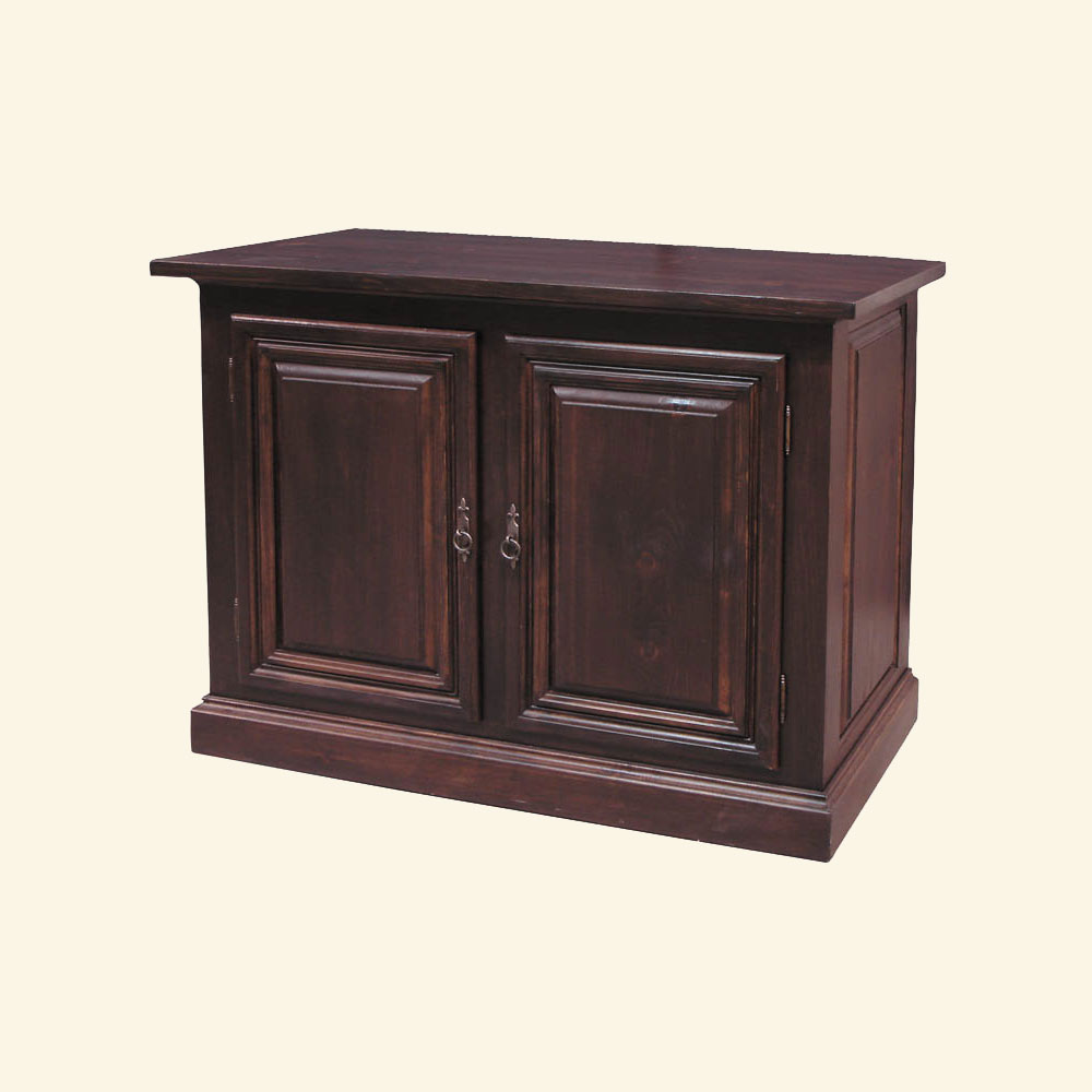 French Country Two Door Tall Provincial Buffet stained Black Cherry