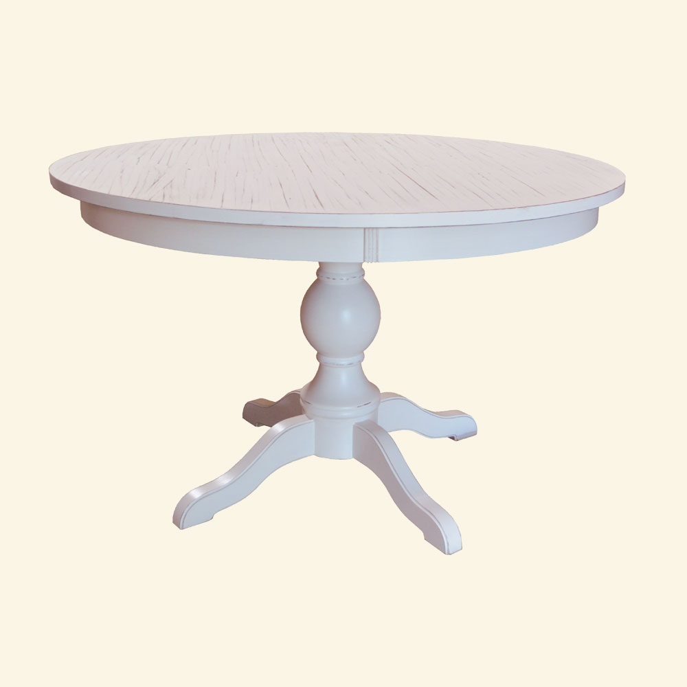 48 Round Turned Base Dining Table