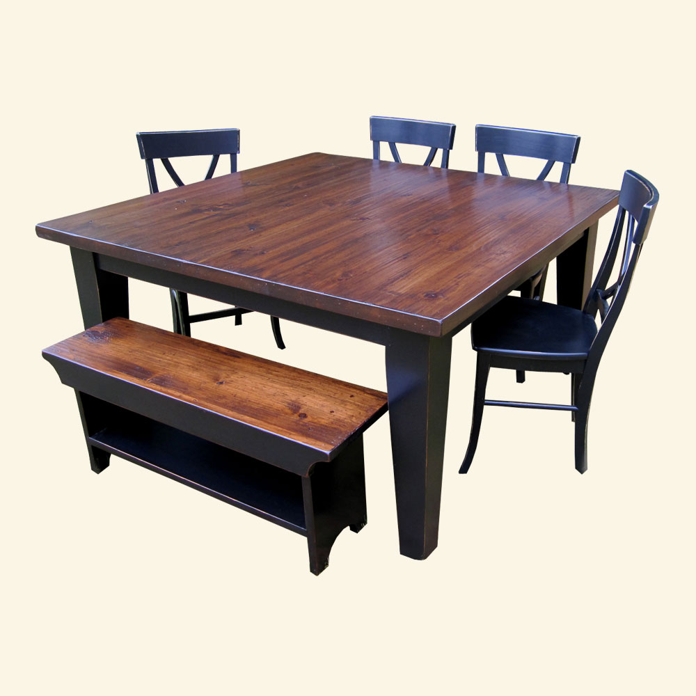 French Country 60 inch Square Table Set
