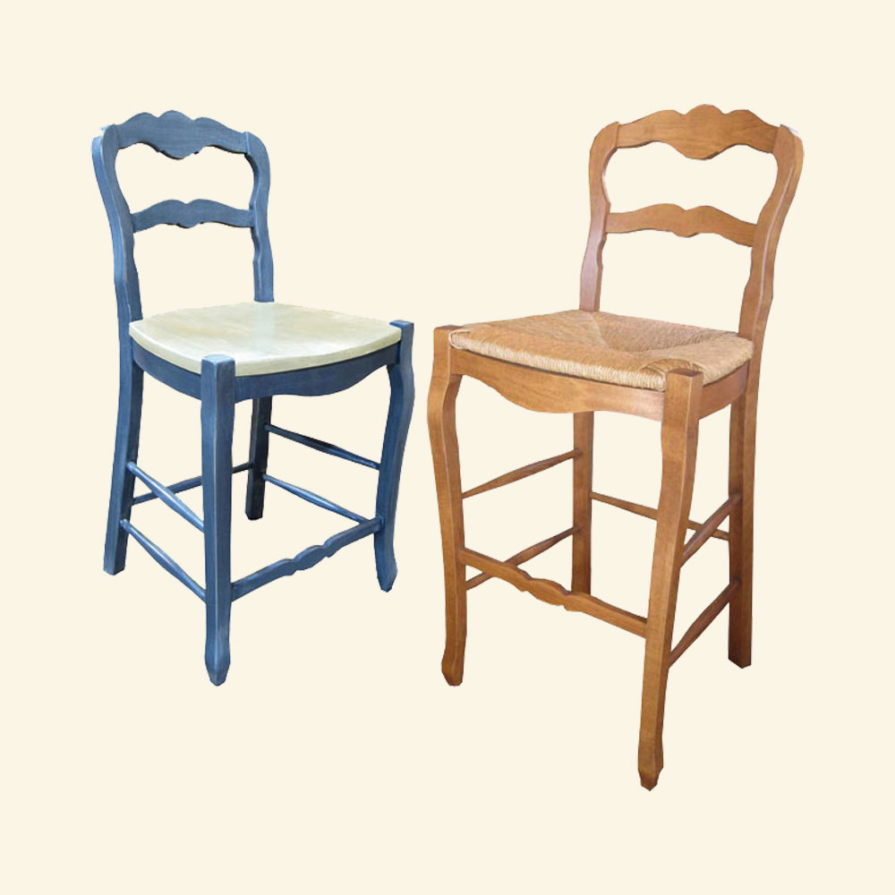 Sensational Country French Ladderback Counter Stool French Country Home Interior And Landscaping Transignezvosmurscom