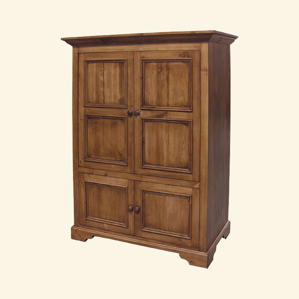 French Country Computer Armoire, Natural