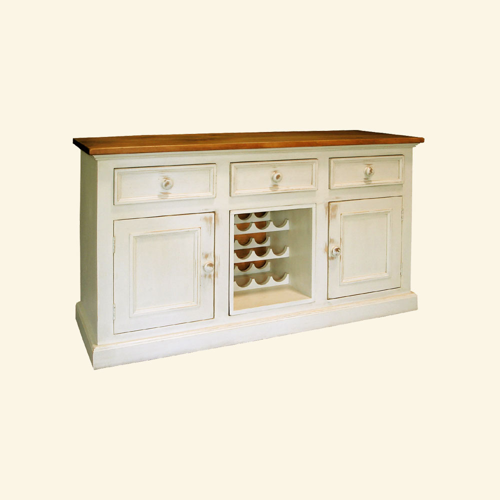 Country Wine Buffet painted Champlain White