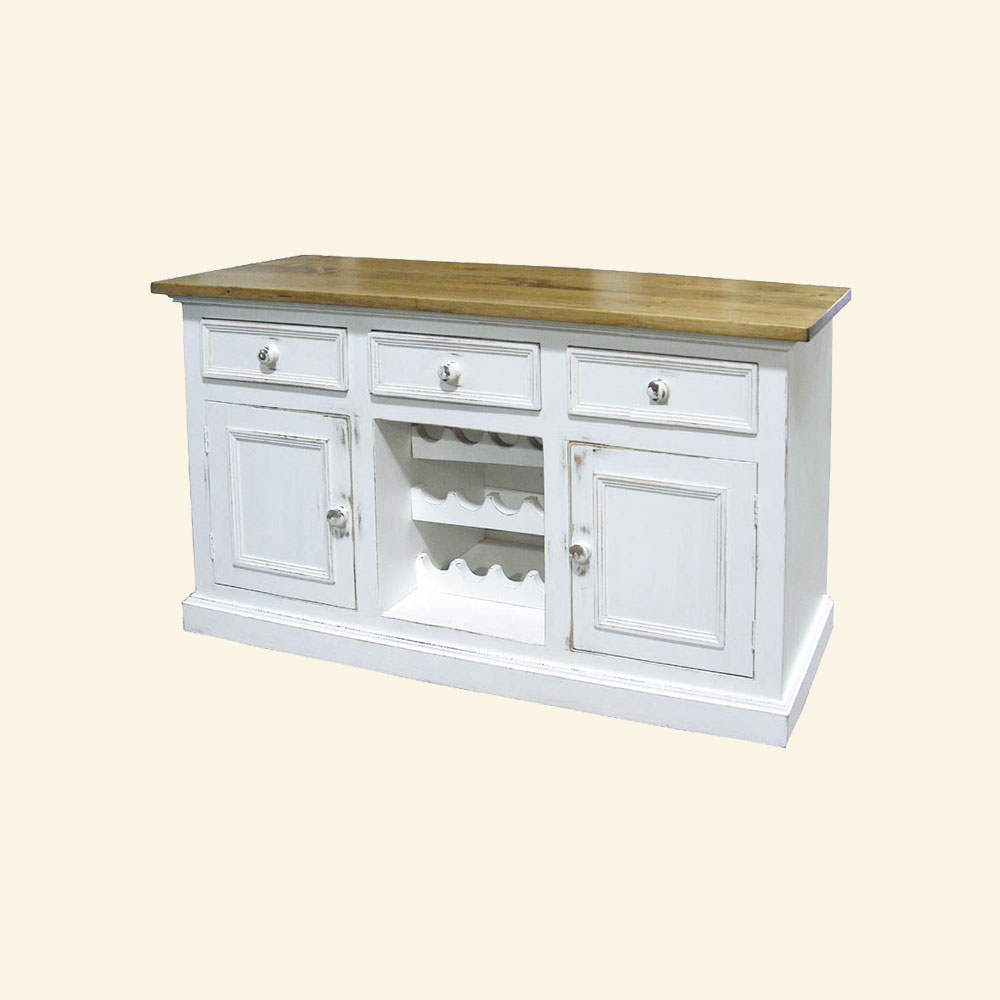 Country Wine Buffet painted Sturbridge White