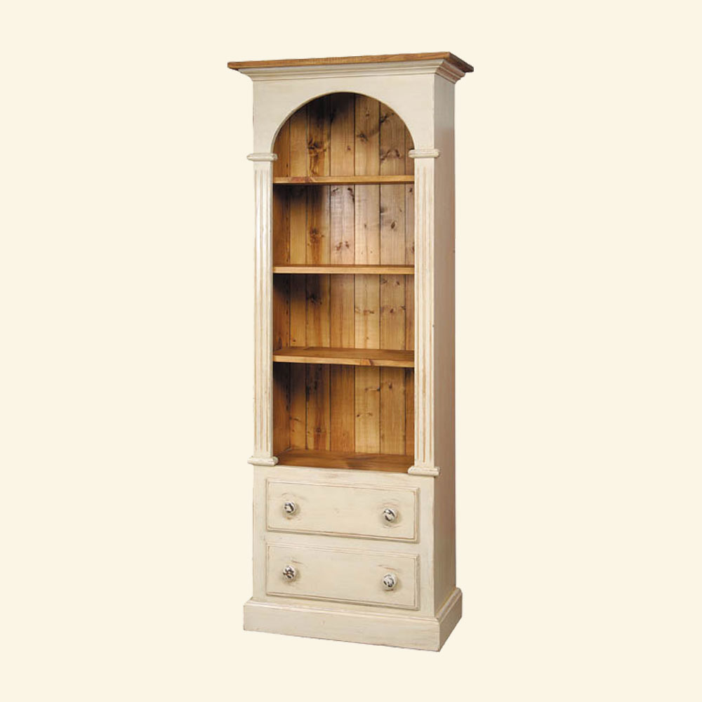 French Country Domed Bookcase