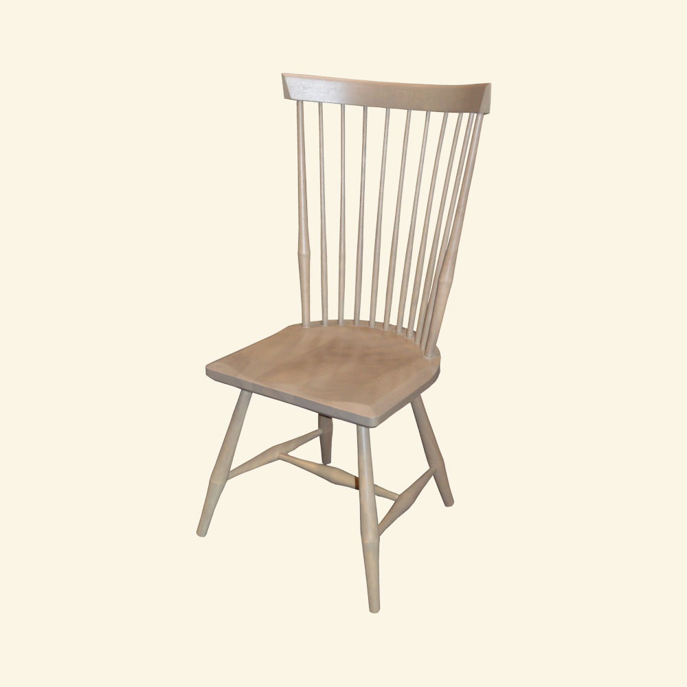French Country Fan Back Side Chair, Millstone paint