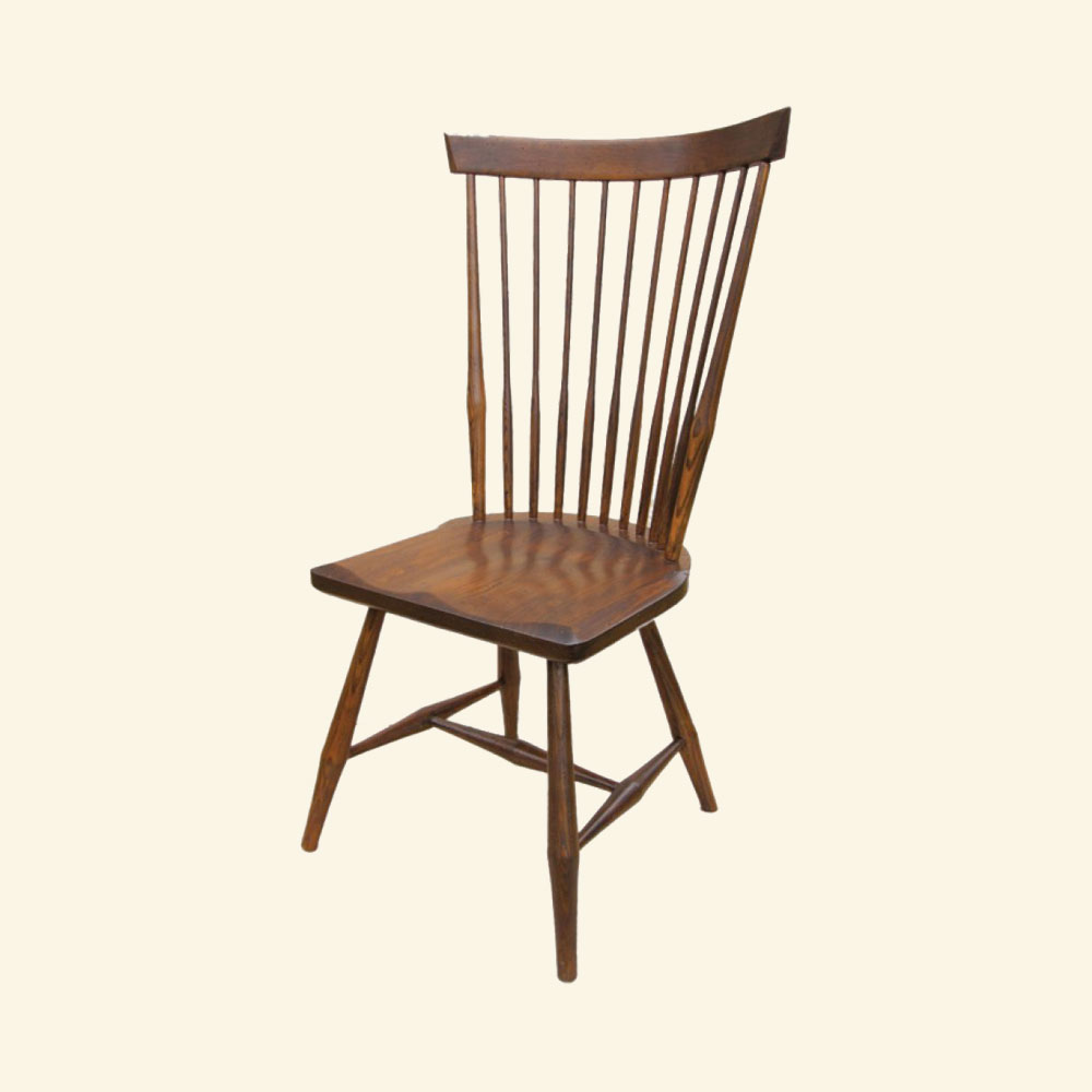 French Country Fan Back Side Chair, Sequoia