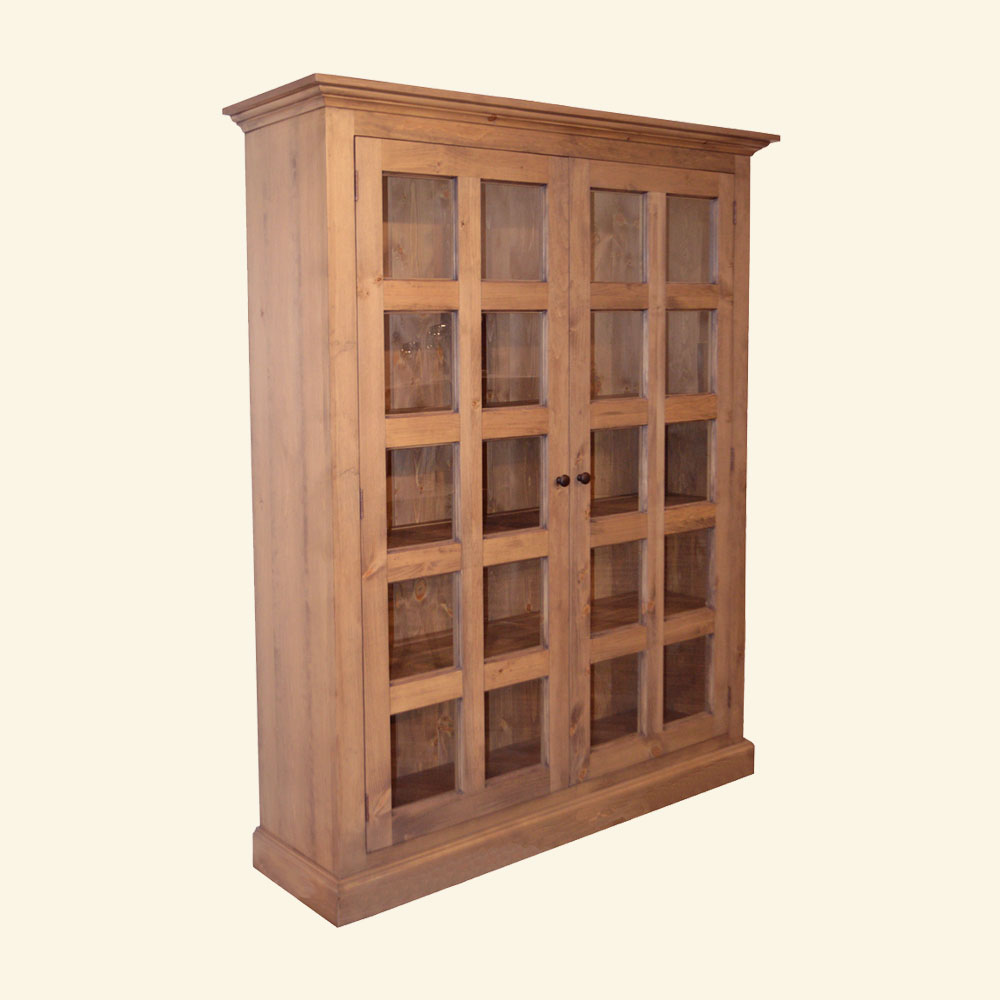French Country Glass Door Cabinet