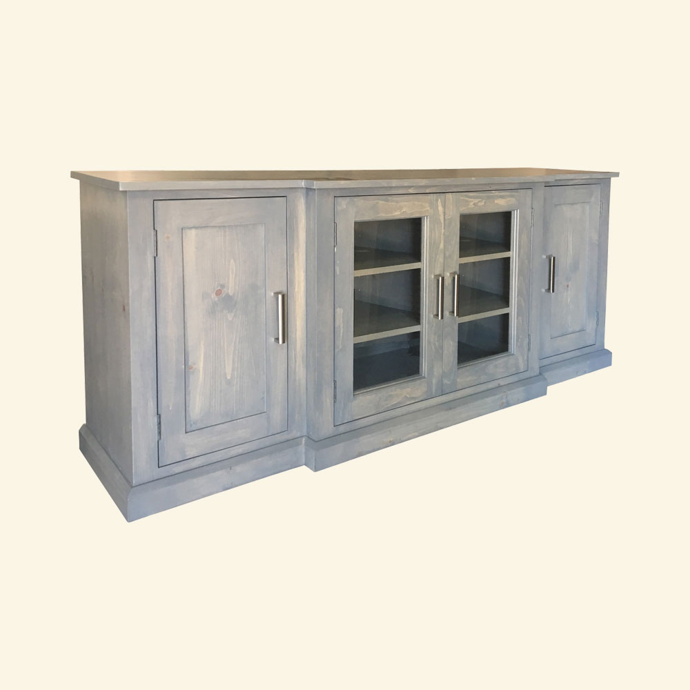 French Country Glass Door Media Stand