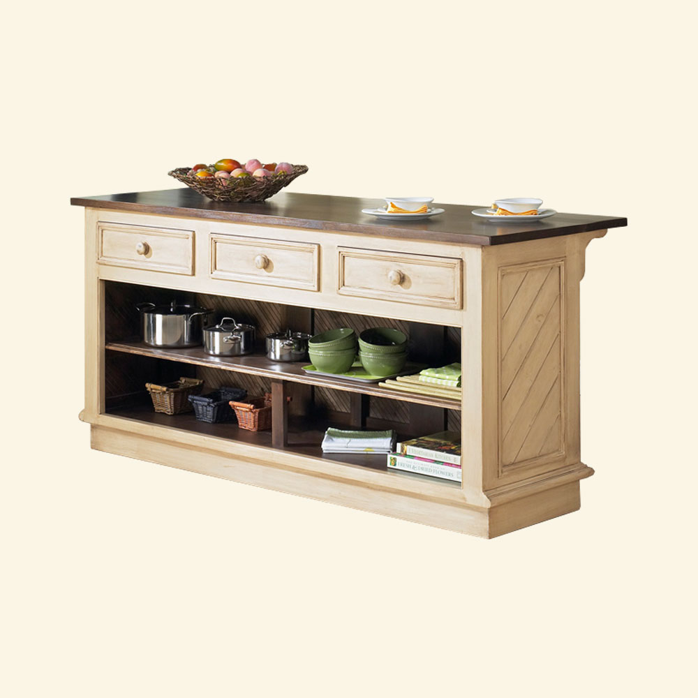 French Country Kitchen Island: French Country Kitchen Island Horizontal Drawers