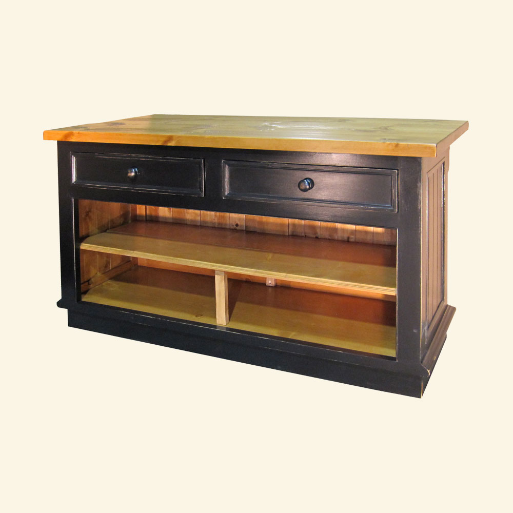 French Country Kitchen Island Horizontal Drawers | French ...