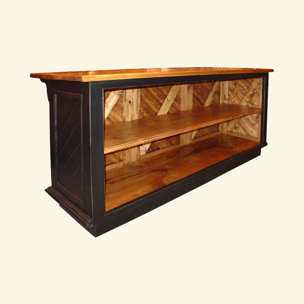 French Country Kitchen Island: French Country Kitchen Island Open Shelf