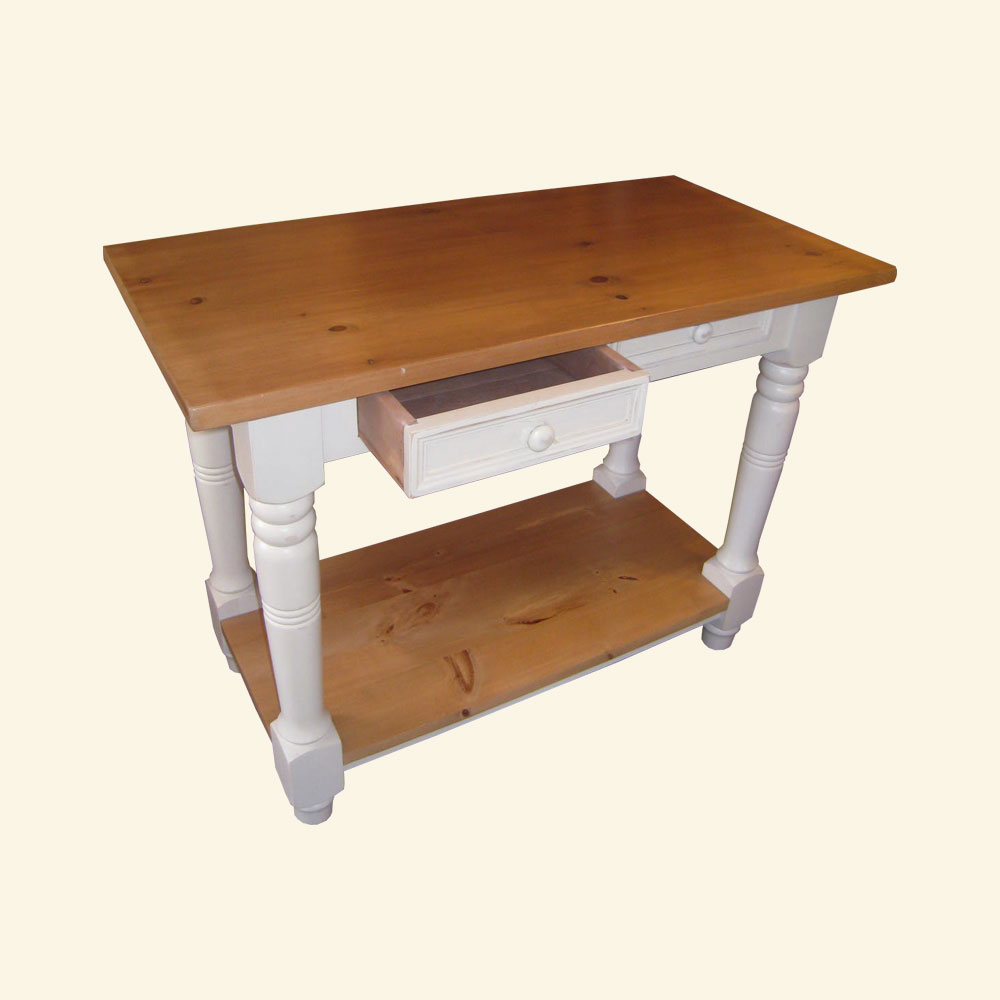 French Country Kitchen Island Work Table, Open View