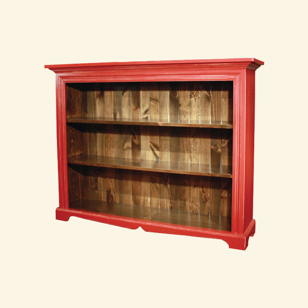 French Country Low Bookcase, Fort York Red