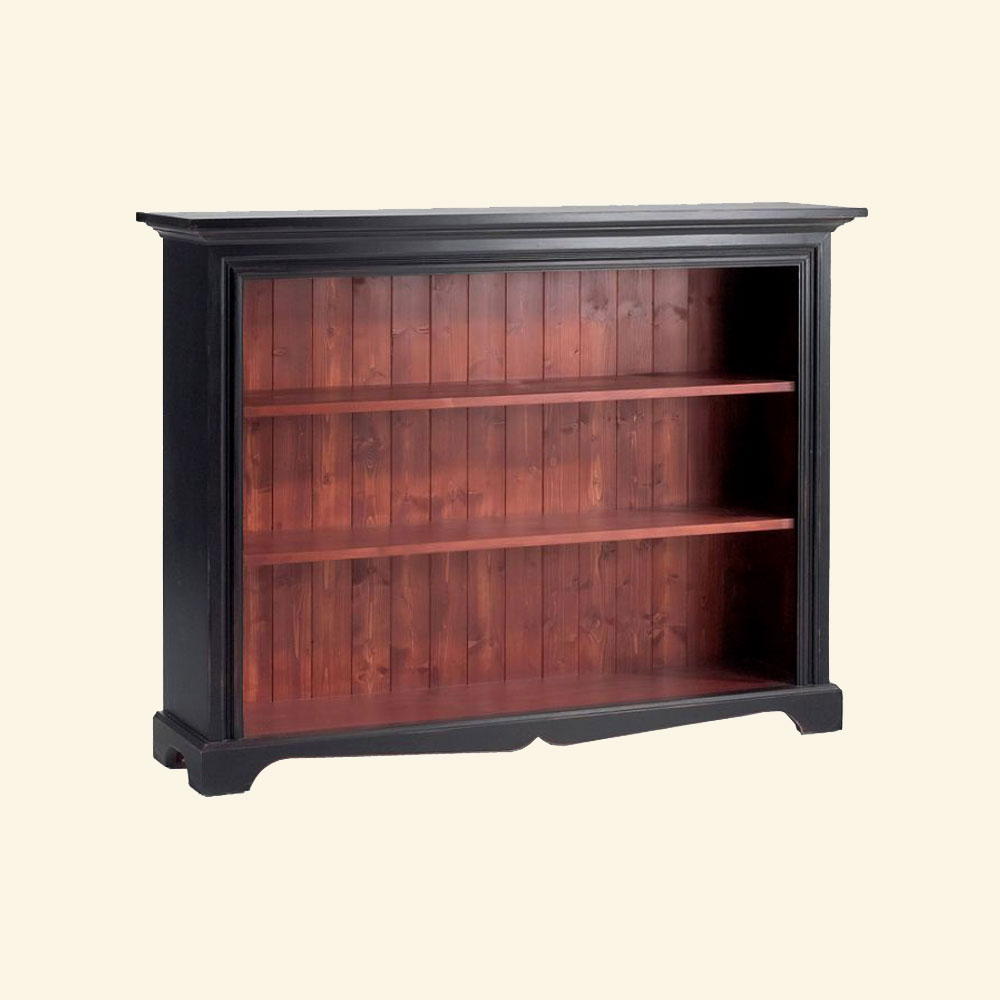 French Country Low Bookcase