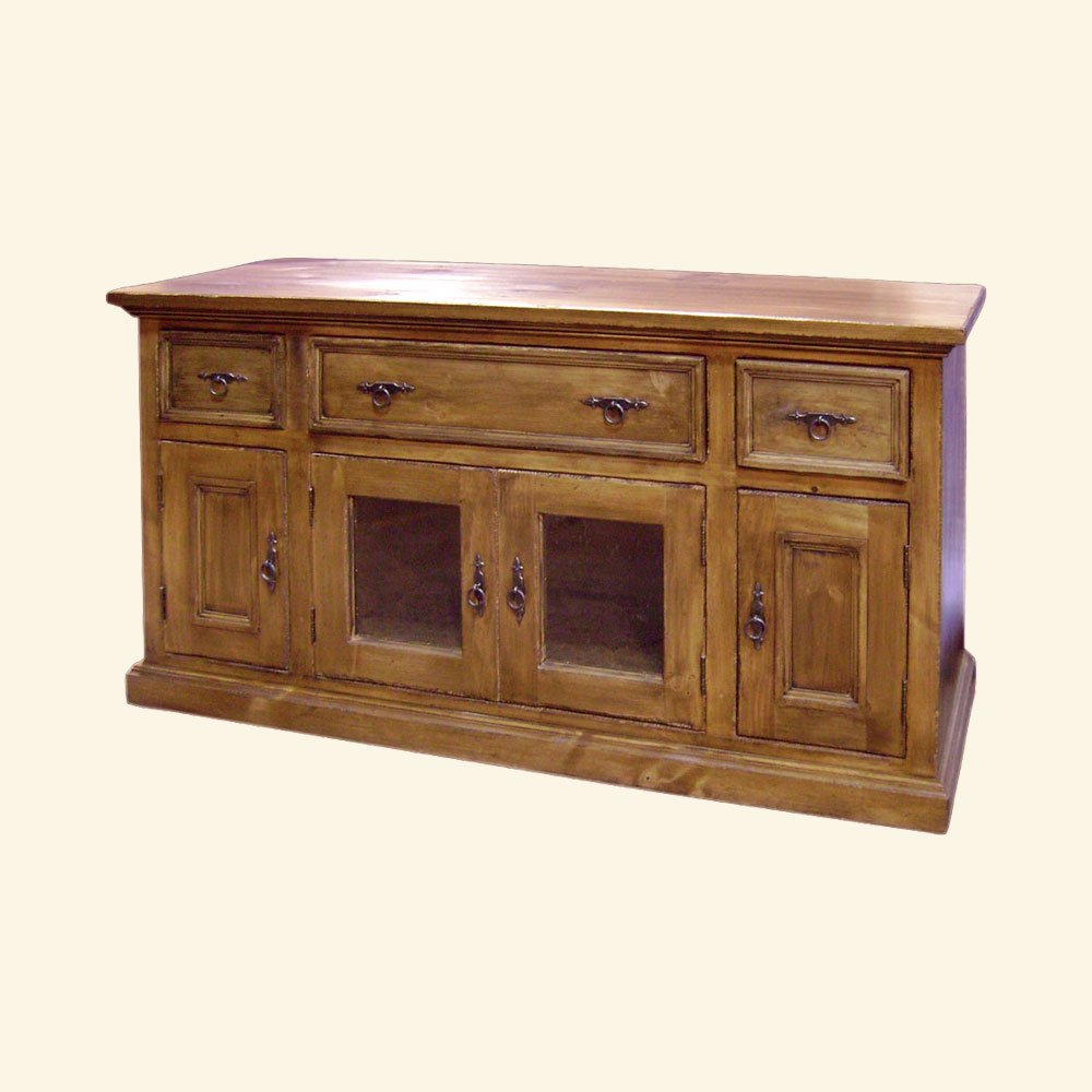 French Country Media Console stained Caramel