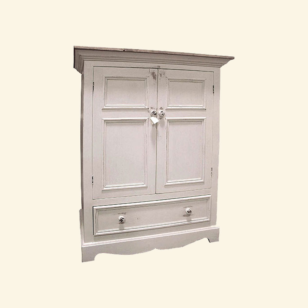 French Country Metro TV Armoire, One Drawer