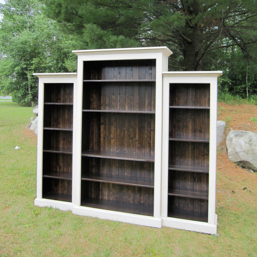 French Country Nesting Bookcase Wall Unit, View