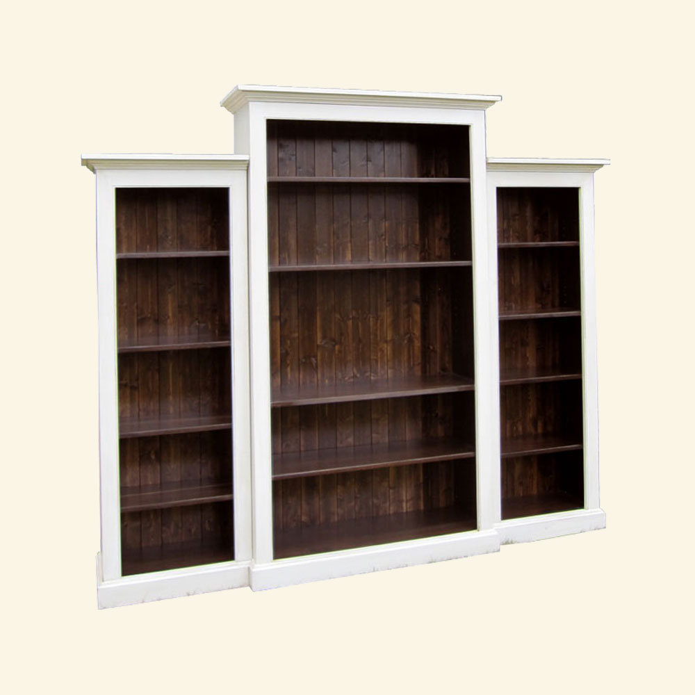 French Country Nesting Bookcase Wall Unit, painted