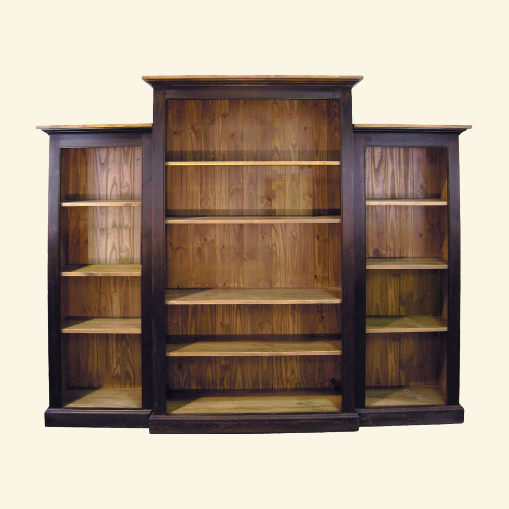 French Country Nesting Bookcase Wall Unit