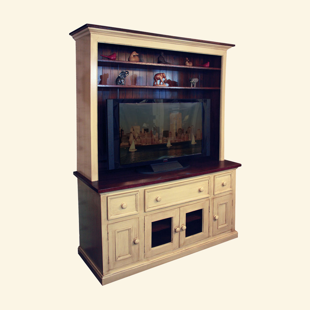 French Country Open Shelf Media Hutch