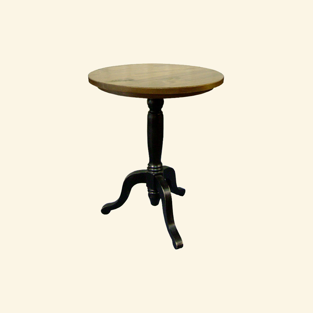 French Country Pedestal End Table, painted