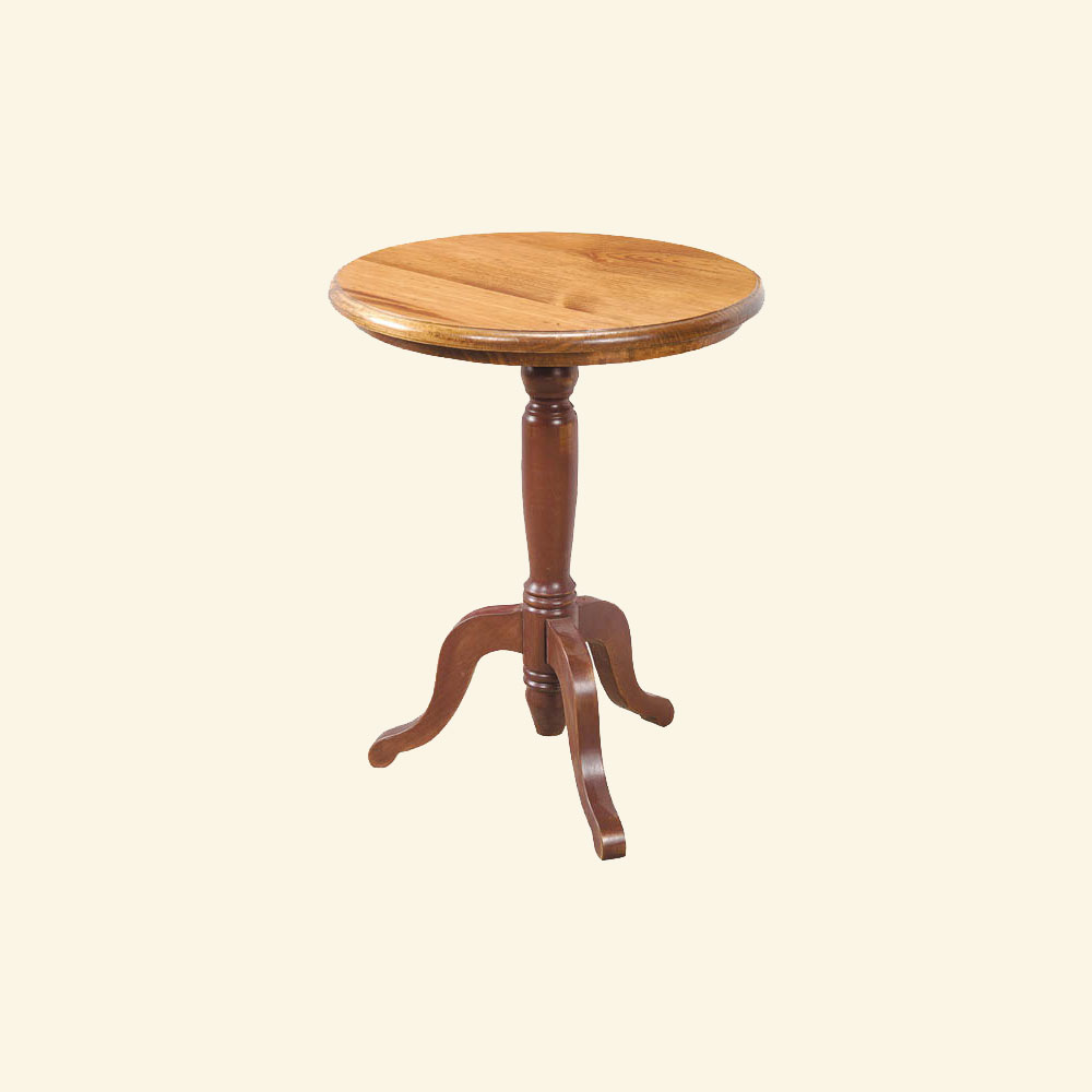 French Country Pedestal End Table