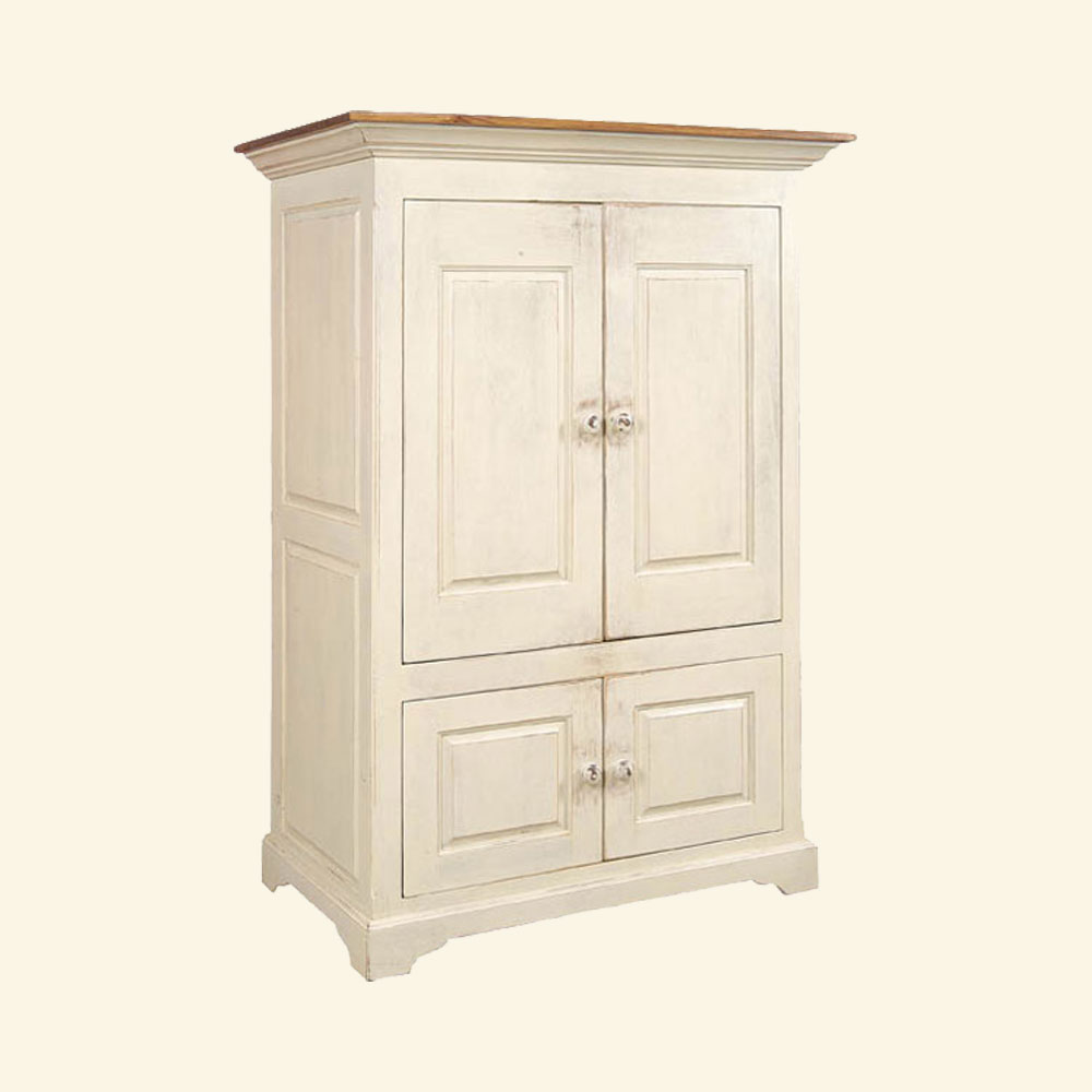 French Country Pocket Door TV Armoire