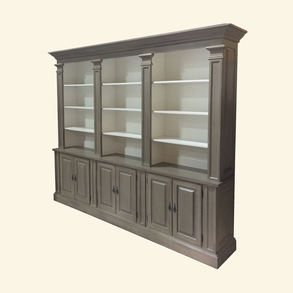 French Provincial Bookcase, painted