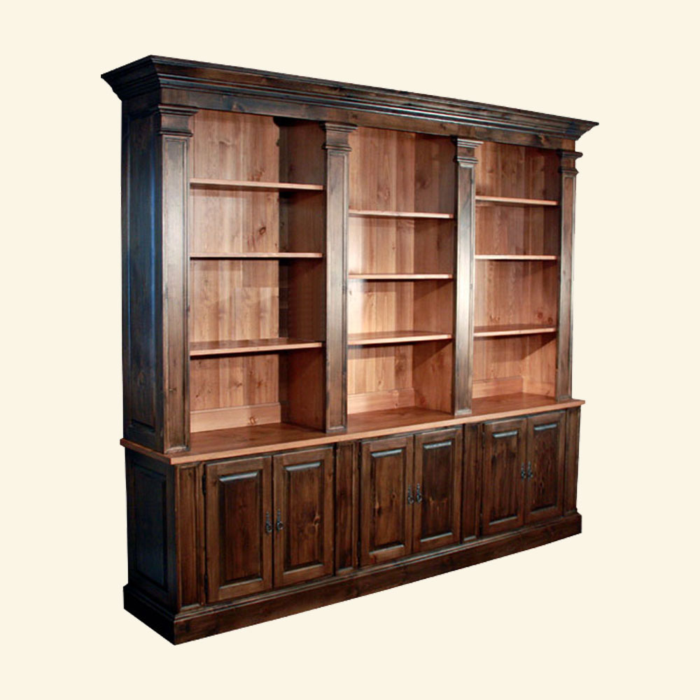 French Provincial Bookcase, stained