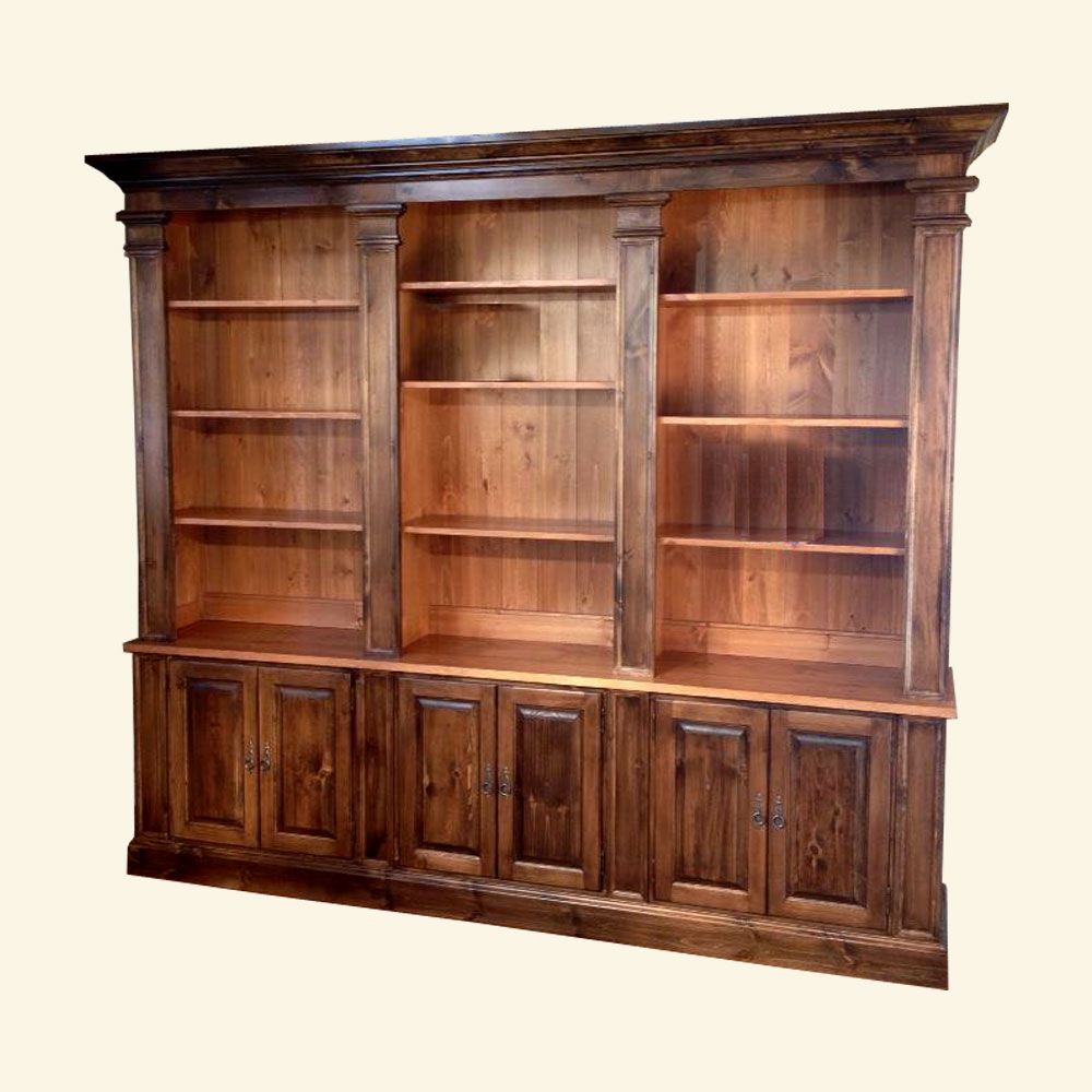 French Provincial Bookcase Wall Unit