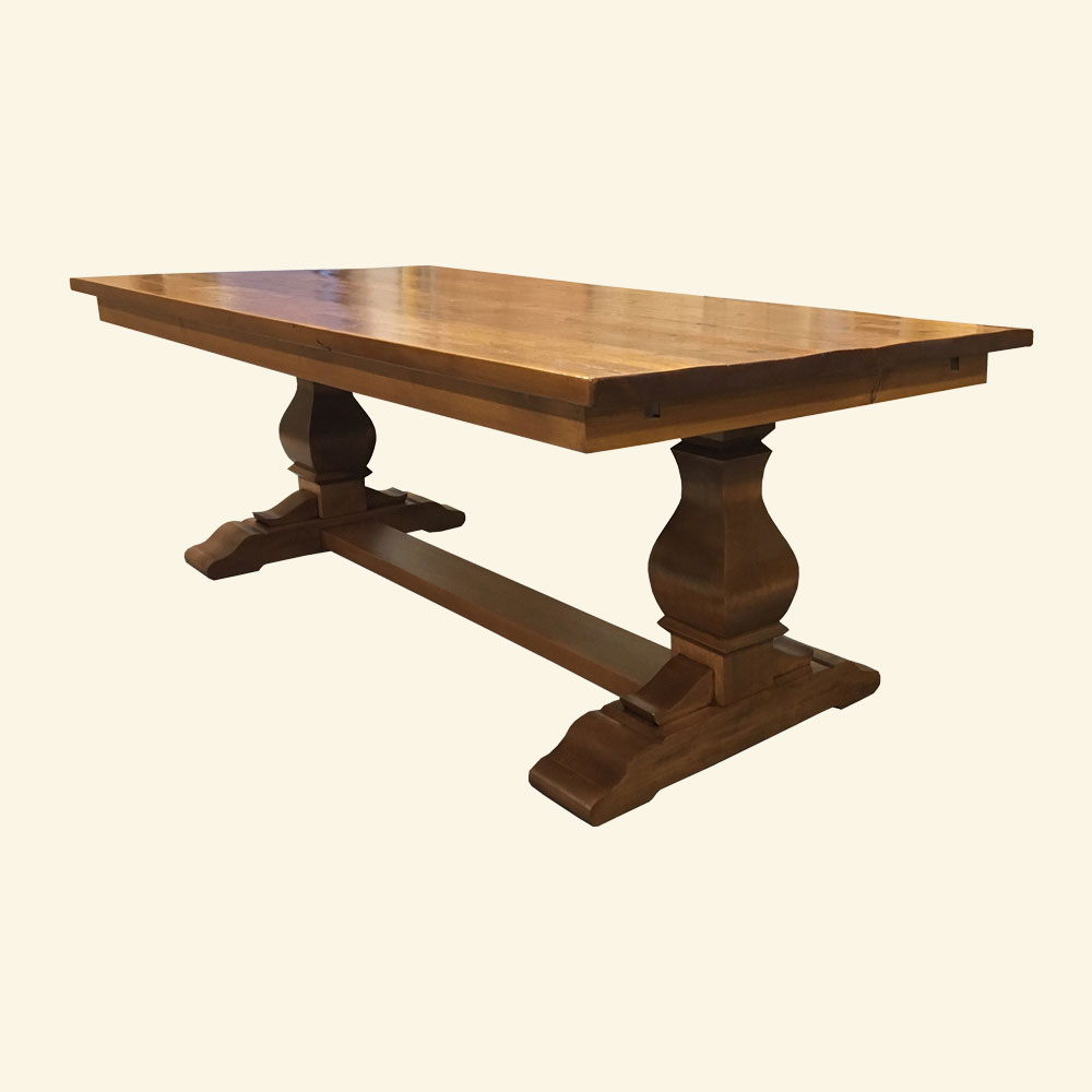 French Country Provincial Trestle Dining Table
