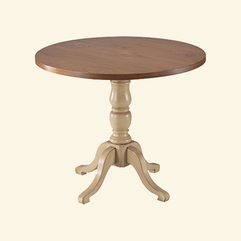 French Country 36 inch Round Bistro Dining Table