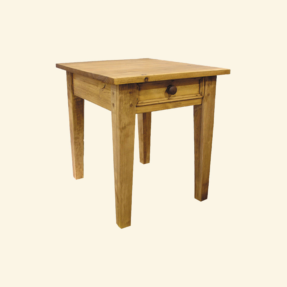 french country square leg end table  french country