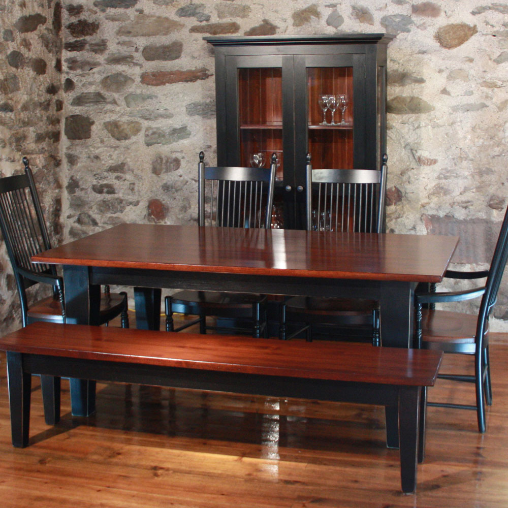 French Country Tapered Square Leg Dining Table French