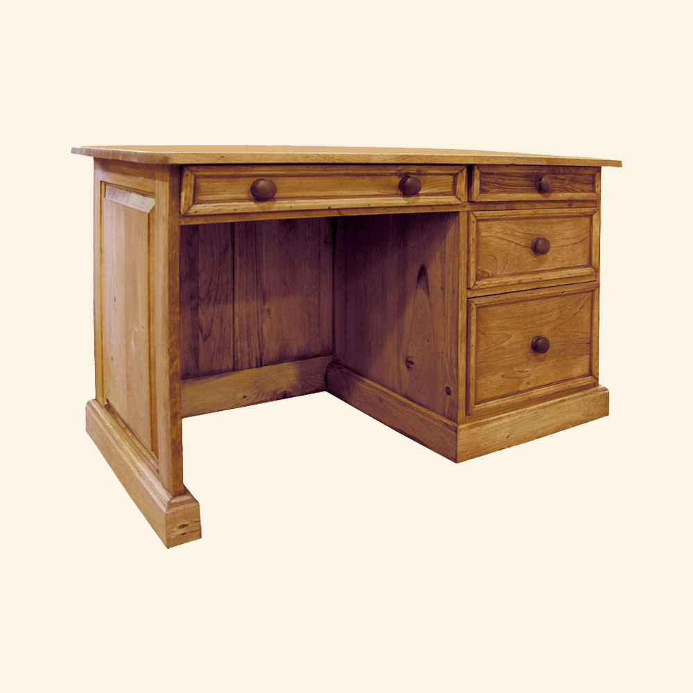 French Country Student Desk, Natural