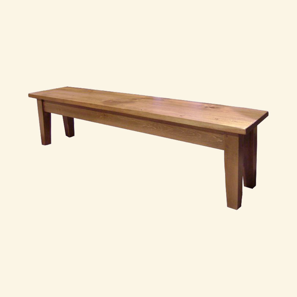 French Country Tapered Leg Bench, Natural