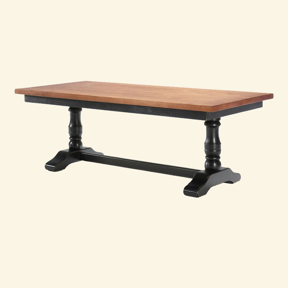 Trestle Table finished in Black milk paint