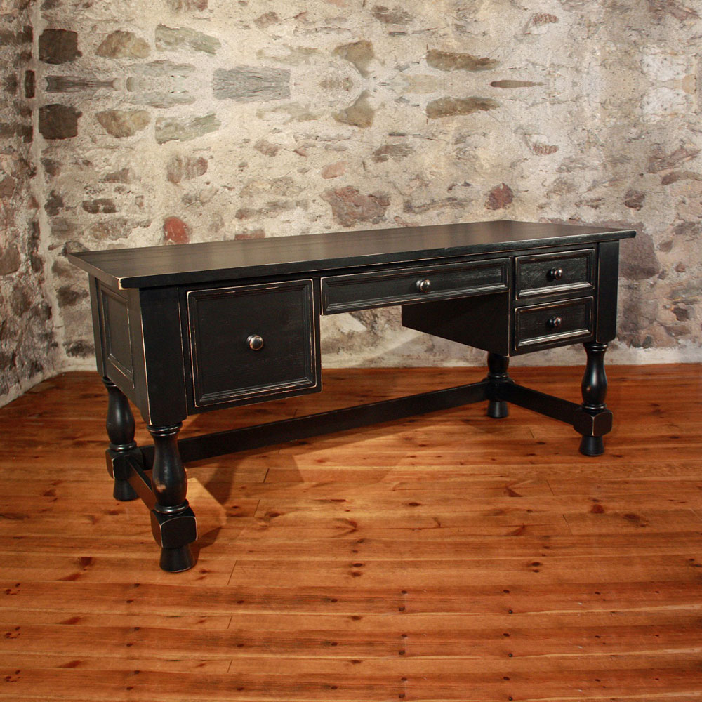 French Country Turned Leg Desk, interior