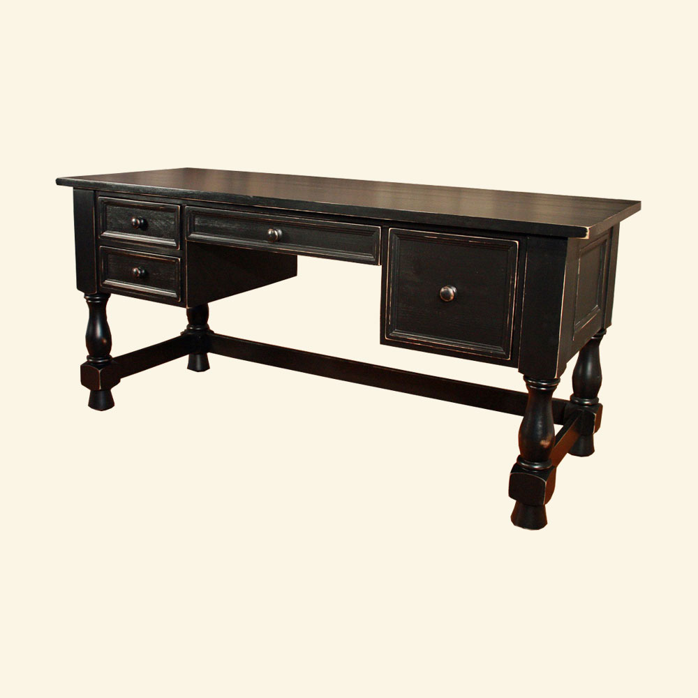 French Country Turned Leg Desk