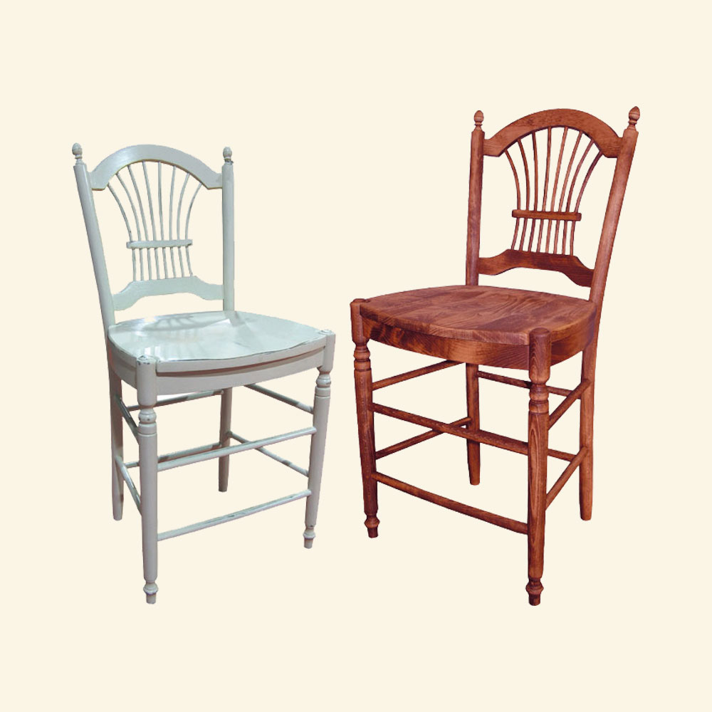 Incredible French Country Wheat Back Counter Stool French Country Home Interior And Landscaping Transignezvosmurscom