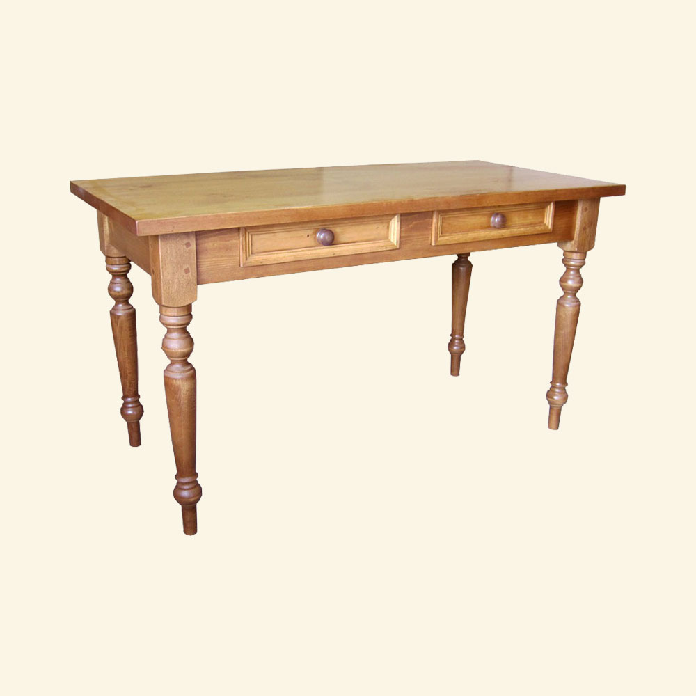 French Country Writing Table, Natural