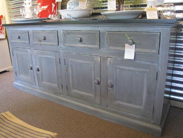 Storm Gray Milk Paint Distressed Furniture Finish