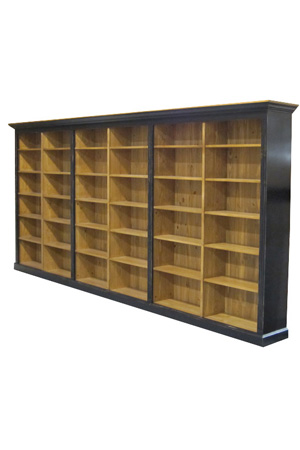 Large bookcase wall unit storage