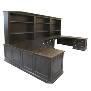 Espresso Home Office Desk Unit