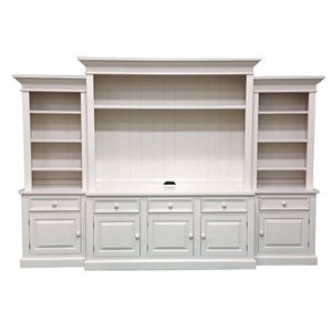 Large White Media Unit Storage TV