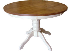 48 inch Round Pedestal Dining Table in Champlain