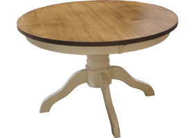 48 inch Round Pedestal Dining Table in Buttermilk