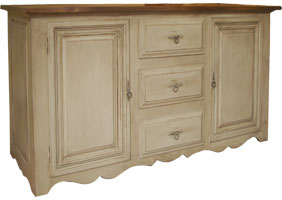 Country French Buffet painted finish