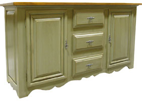 Country French Buffet painted and stained