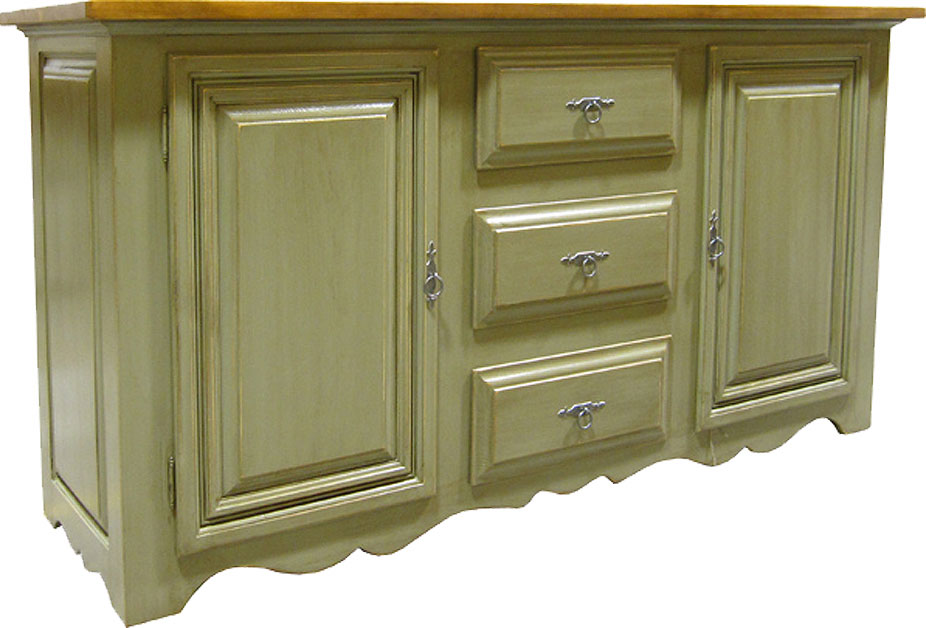 country french sideboard painted and rubbed finish